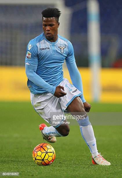 Diao Balde Keita of SS Lazio in action during the Serie A match between SS Lazio and Carpi FC at Stadio Olimpico on January 6 2016 in Rome Italy