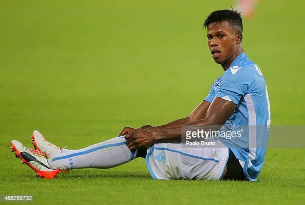 Diao Keita Balde of SS Lazio during the Serie A match between SS Lazio and Udinese Calcio at Stadio Olimpico on September 13 2015 in Rome Italy