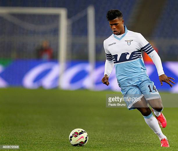 Diao Keita Balde of SS Lazio in action during the Serie A match between SS Lazio and ACF Fiorentina at Stadio Olimpico on March 9 2015 in Rome Italy