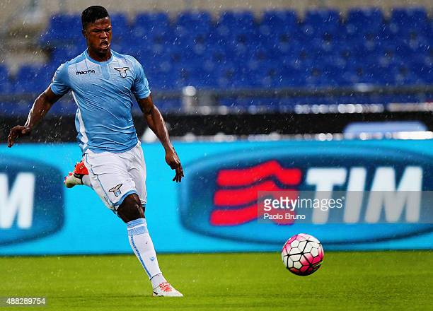 Diao Keita Balde of SS Lazio in action during the Serie A match between SS Lazio and Udinese Calcio at Stadio Olimpico on September 13 2015 in Rome...