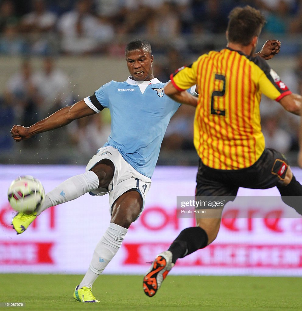 Diao Keita Balde #14 of SS Lazio in action during the TIM Cup match between SS Lazio and Bassano FC at Olimpico Stadium on August 24, 2014 in Rome, Italy.
