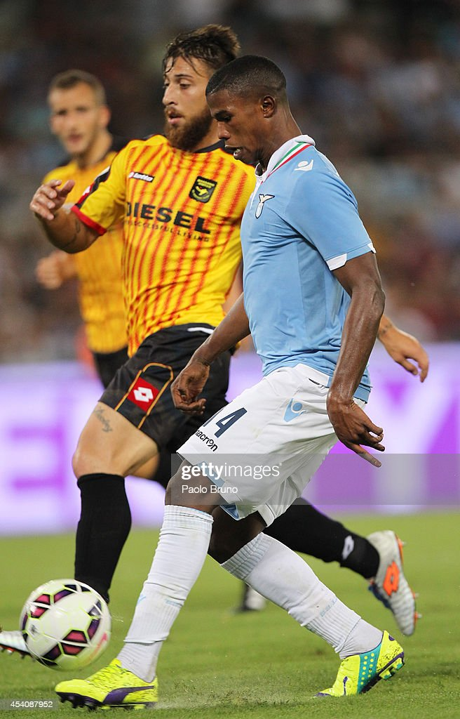 Diao Keita Balde #14 of SS Lazio scores the third team's goal during the TIM Cup match between SS Lazio and Bassano FC at Olimpico Stadium on August 24, 2014 in Rome, Italy.