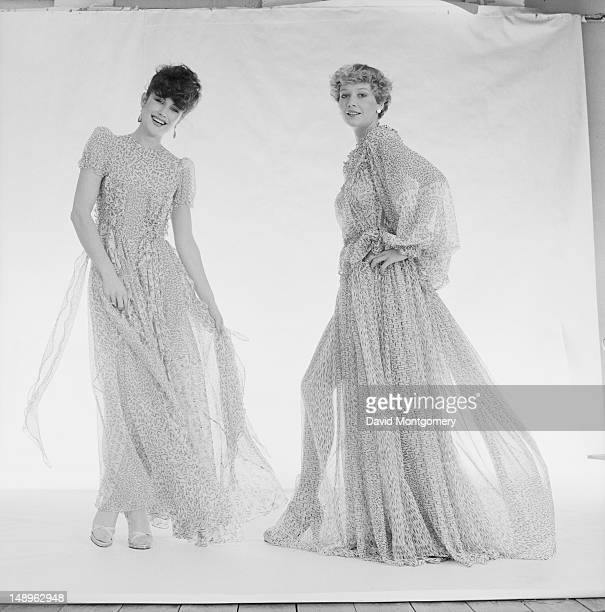 Diaphanous dresses by English fashion designer Ossie Clark circa 1970