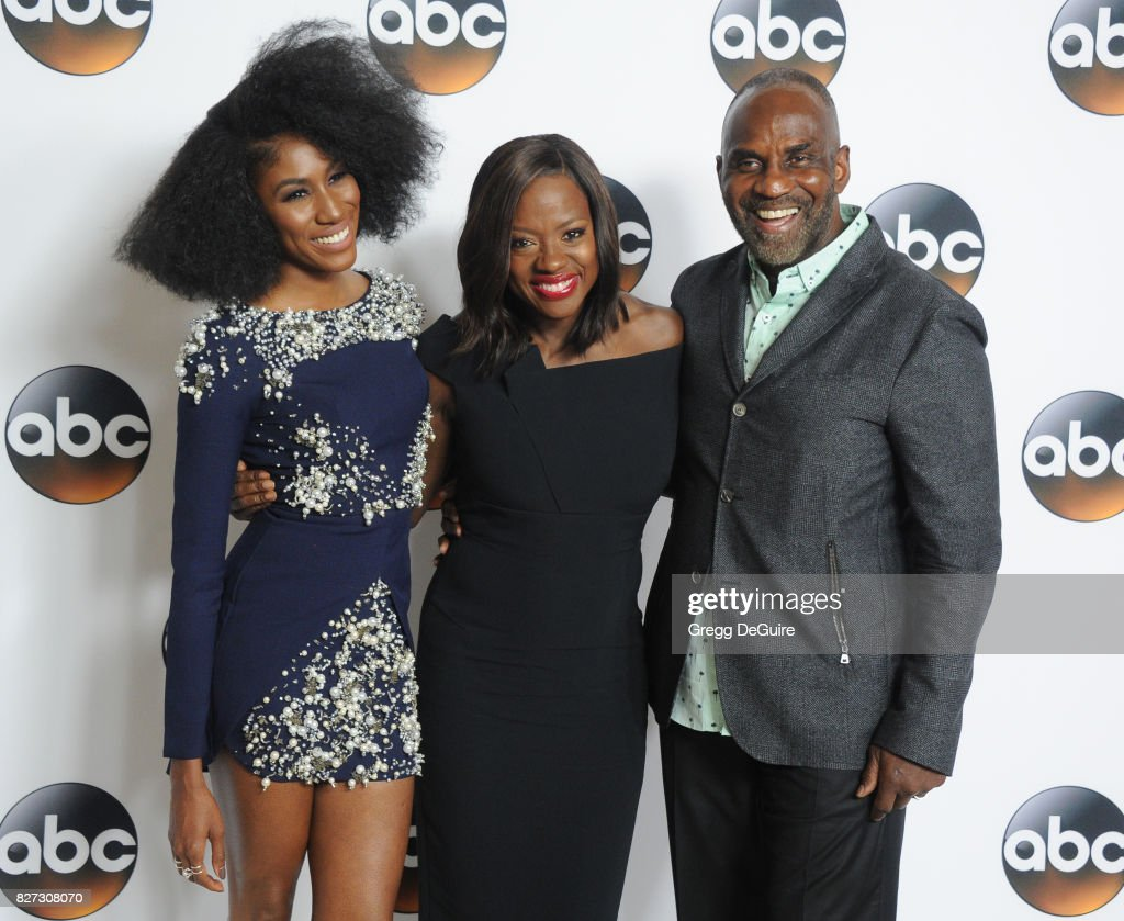 Diarra Kilpatrick, Viola Davis and Julius Tennon arrive at the 2017 Summer TCA Tour - Disney ABC Television Group at The Beverly Hilton Hotel on August 6, 2017 in Beverly Hills, California.