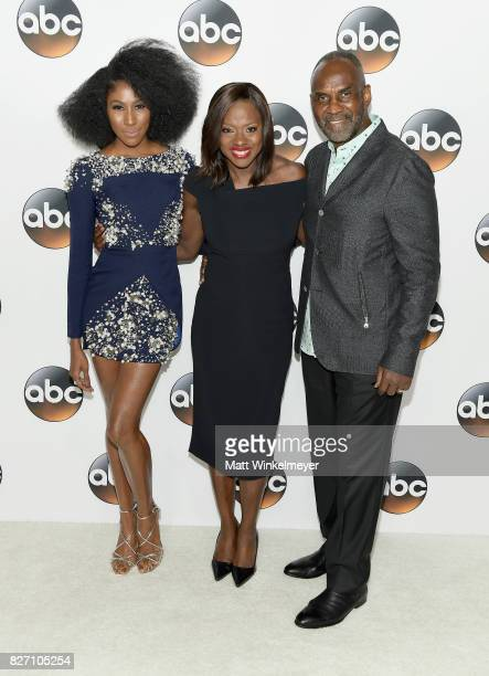 Diarra Kilpatrick Viola Davis and Julius Tennon attend the 2017 Summer TCA Tour Disney ABC Television Group at The Beverly Hilton Hotel on August 6...