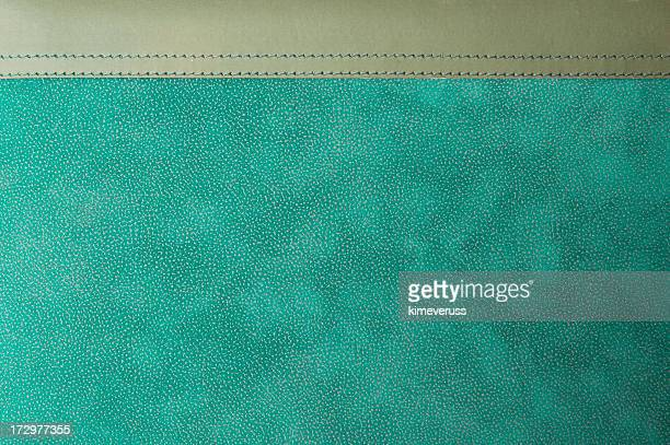 Diary leather photo album aqua green