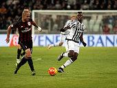 Dias Da Costa Alex and Paul Pogba during the serie A match between Juventus FC and AC Milan at the juventus stadium on november 21 2015 in torino...
