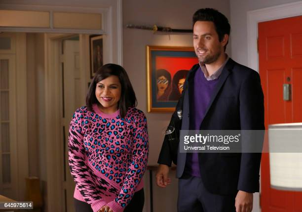PROJECT 'Dibs' Episode 511 Pictured Mindy Kaling as Mindy Lahiri Ed Weeks as Jeremy Reed