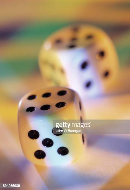 Dice on colorful background