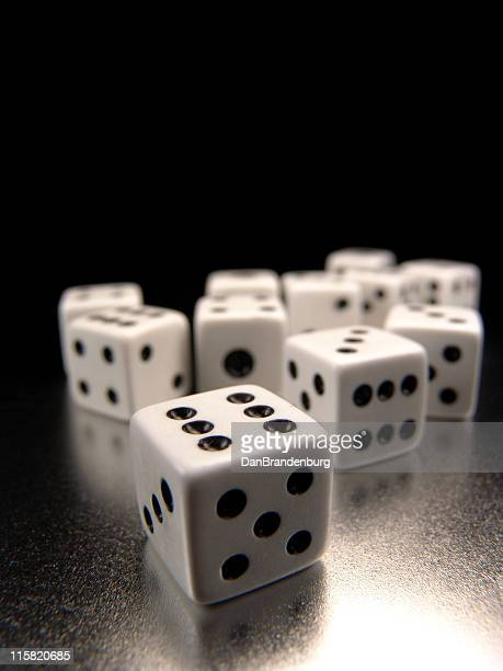 Dice on Metal Surface