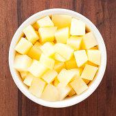 Diced boiled potato