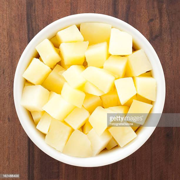 Diced boiled potato