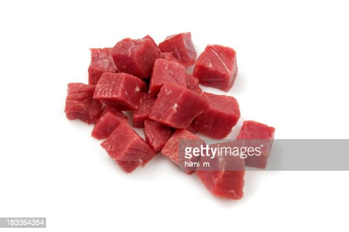 Diced raw meat