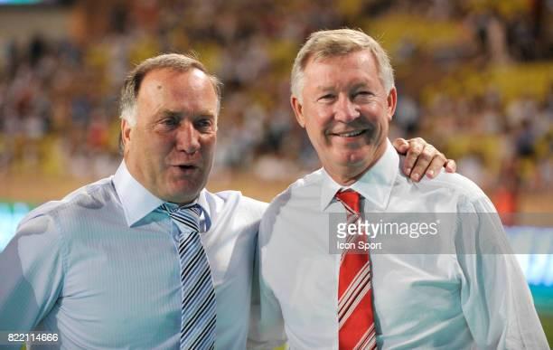 Dick ADVOCAAT et Sir Alex FERGUSON Manchester United / Zenith Saint Petersbourg SuperCoupe d Europe Monaco
