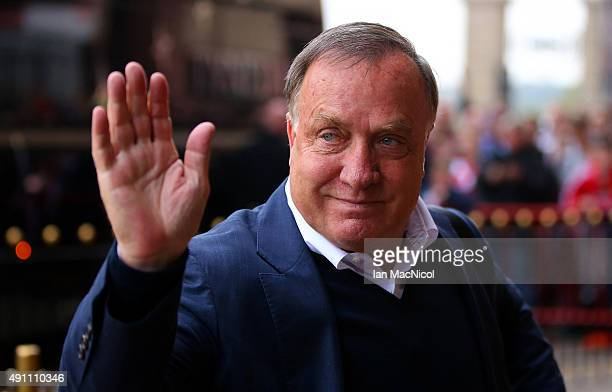 Dick Advocaat manager of Sunderland is seen on arrival at the stadium prior to the Barclays Premier League match between Sunderland and West Ham...