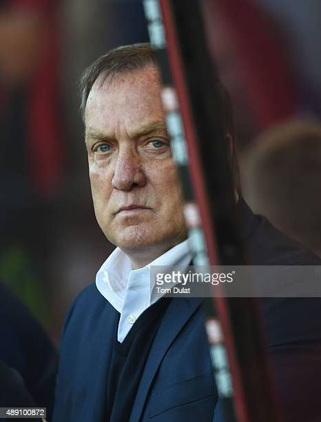 Dick Advocaat manager of Sunderland looks on prior to the Barclays Premier League match between AFC Bournemouth and Sunderland at Vitality Stadium on...