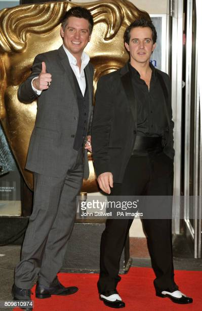 Dick and Dom arrive for the British Academy Children's Awards 2011 at the Hilton Hotel in Park Lane central London