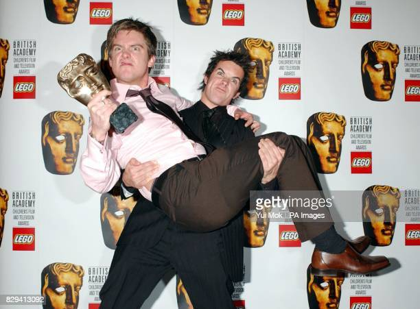 Dick and Dom In da Bungalow hosts Richard McCourt and Dominic Wood with their awards for Best Entertainment and Best Presenters at the British...