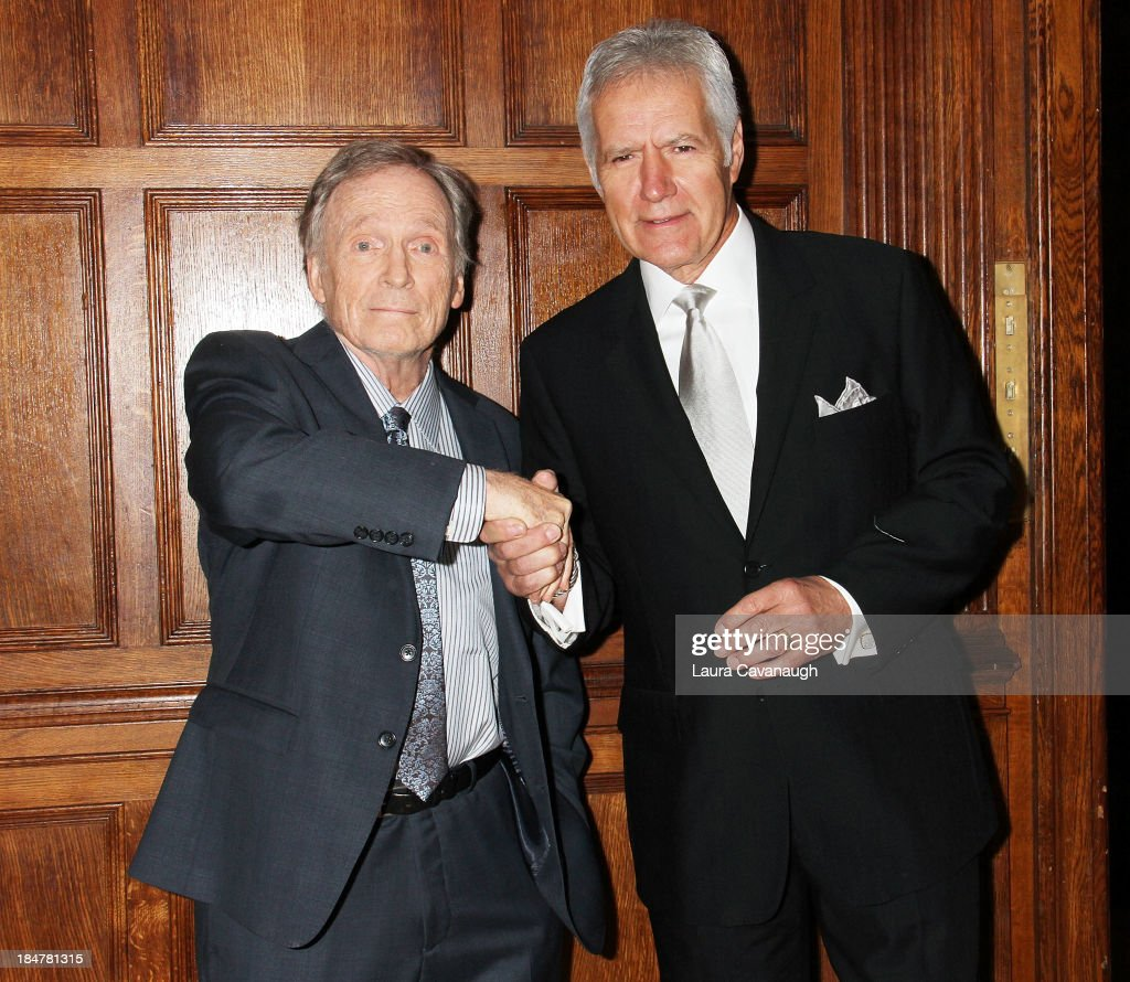 Dick Cavett and Alex Trebek attend the 11th annual Giants of Broadcasting Honors at Gotham Hall on October 16, 2013 in New York City.