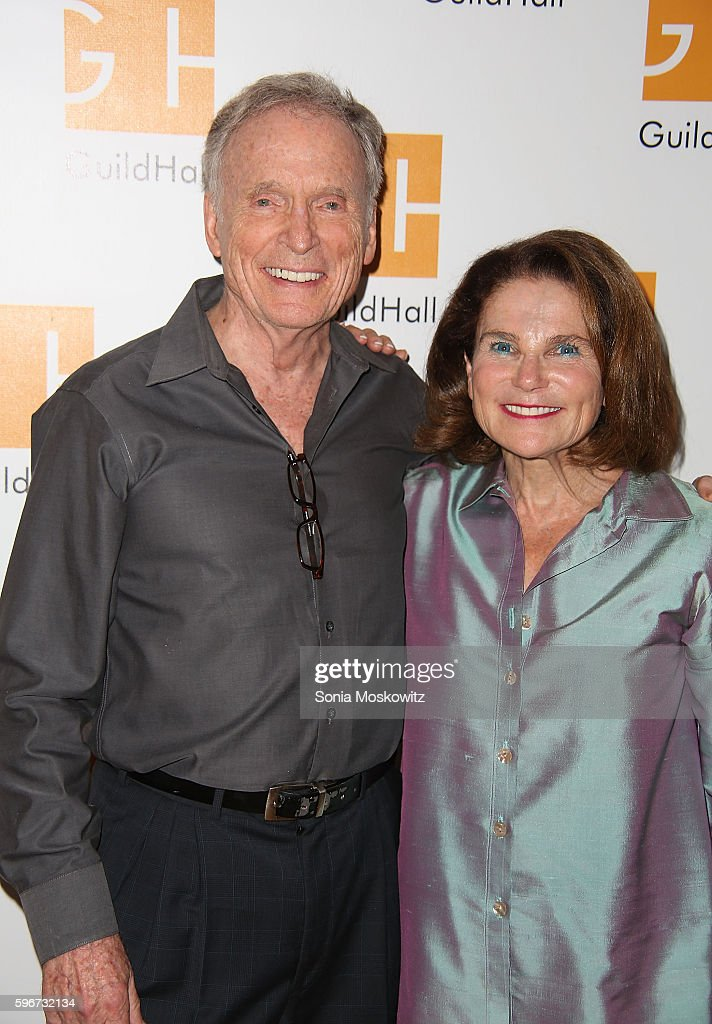 Dick Cavett and Tovah Feldshuh attend 'Celebrity Autobiography' at Guild Hall on August 26 2016 in East Hampton New York