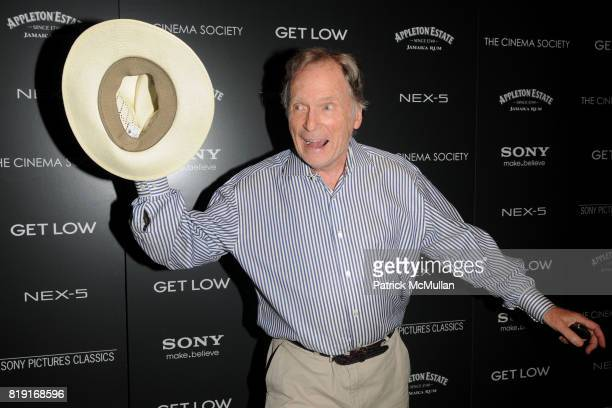 Dick Cavett attends THE CINEMA SOCIETY SONY ALPHA NEX host a screening of 'GET LOW' at Tribeca Grand Hotel on July 21 2010 in New York City
