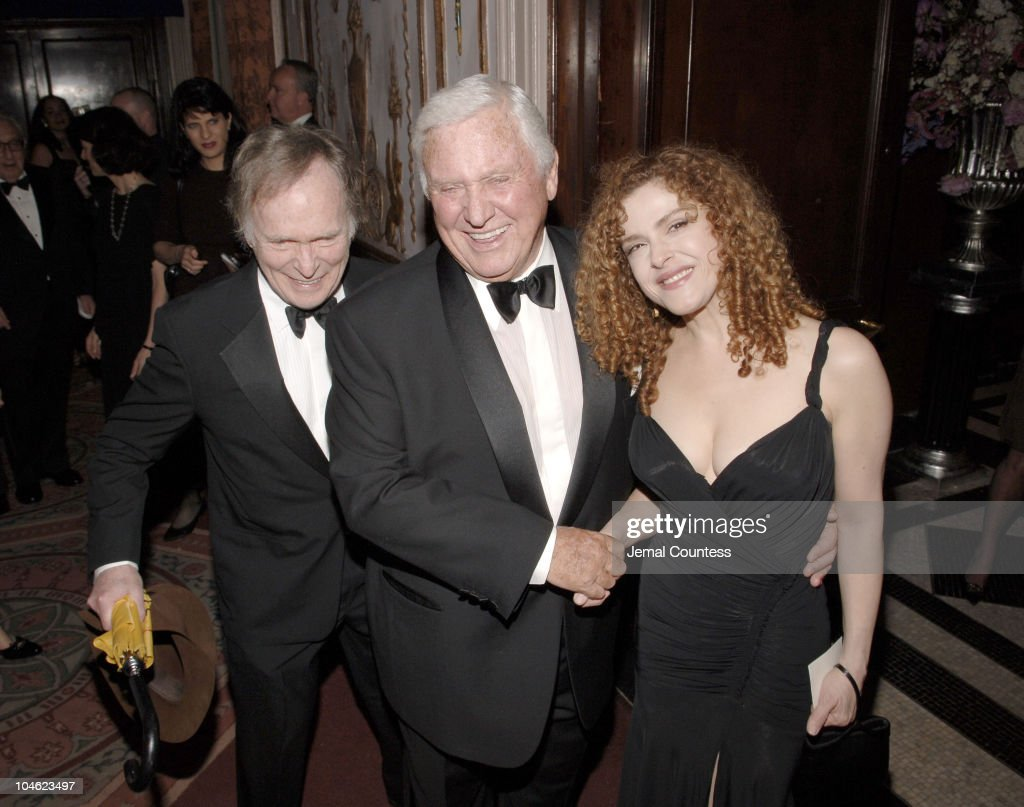 <a gi-track='captionPersonalityLinkClicked' href=/galleries/search?phrase=Dick+Cavett&family=editorial&specificpeople=217287 ng-click='$event.stopPropagation()'>Dick Cavett</a>, <a gi-track='captionPersonalityLinkClicked' href=/galleries/search?phrase=Merv+Griffin&family=editorial&specificpeople=206126 ng-click='$event.stopPropagation()'>Merv Griffin</a> and <a gi-track='captionPersonalityLinkClicked' href=/galleries/search?phrase=Bernadette+Peters&family=editorial&specificpeople=203332 ng-click='$event.stopPropagation()'>Bernadette Peters</a> during <a gi-track='captionPersonalityLinkClicked' href=/galleries/search?phrase=Merv+Griffin&family=editorial&specificpeople=206126 ng-click='$event.stopPropagation()'>Merv Griffin</a> Honored at the Museum of Television and Radio's Annual Gala at Waldorf Astoria Grand Ballrrrroom in New York City, New York, United States.
