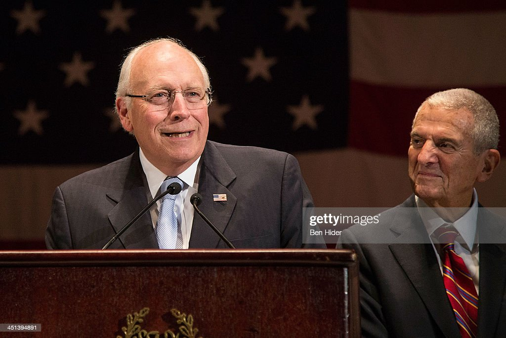 <a gi-track='captionPersonalityLinkClicked' href=/galleries/search?phrase=Dick+Cheney&family=editorial&specificpeople=125149 ng-click='$event.stopPropagation()'>Dick Cheney</a> and Howard Rubenstein attend 2013 Federal Law Enforcement Foundation Luncheon at The Waldorf=Astoria on November 22, 2013 in New York City.
