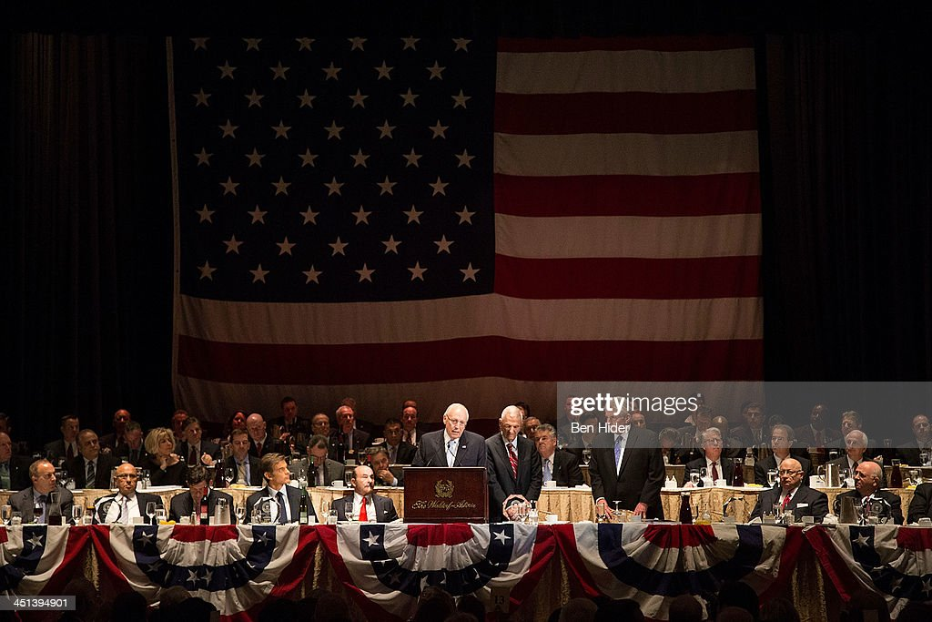 <a gi-track='captionPersonalityLinkClicked' href=/galleries/search?phrase=Dick+Cheney&family=editorial&specificpeople=125149 ng-click='$event.stopPropagation()'>Dick Cheney</a> speaks at 2013 Federal Law Enforcement Foundation Luncheon at The Waldorf=Astoria on November 22, 2013 in New York City.