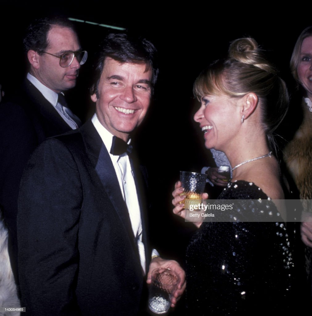 Dick Clark and wife Kari Clark attend 16th Annual Academy of Country Music Awards on April 30 1981 at the Shrine Auditorium in Los Angeles California