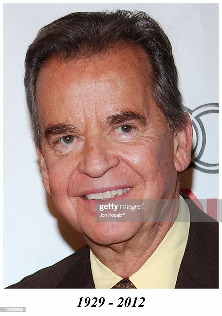 Dick Clark appears at 2004 AFI Film Festival - 'Beyond The Sea' Premiere - Opening Night Gala on November 4, 2004 in Hollywood, California. Dick Clark died in 2012.