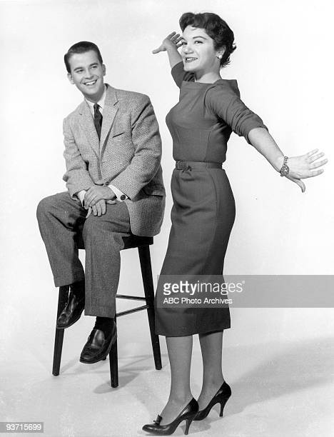 BANDSTAND Dick Clark gallery with Connie Francis 1/28/58 Dick Clark Connie Francis