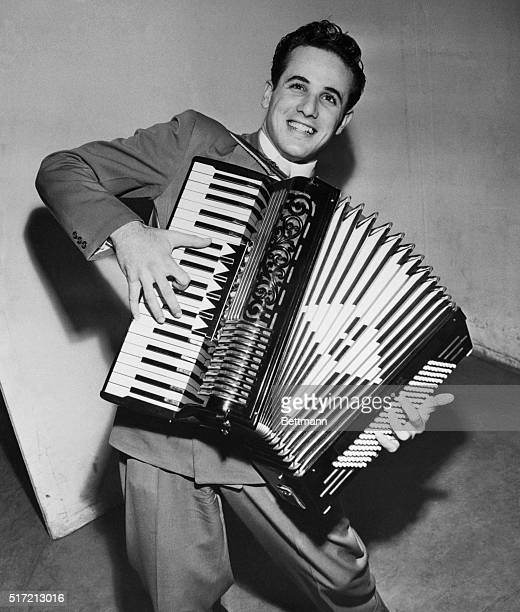 Dick Contino 'Wizard' of the accordion and bobby soxer idol is reported by the Army here as missing just as he was about to be officially inducted...