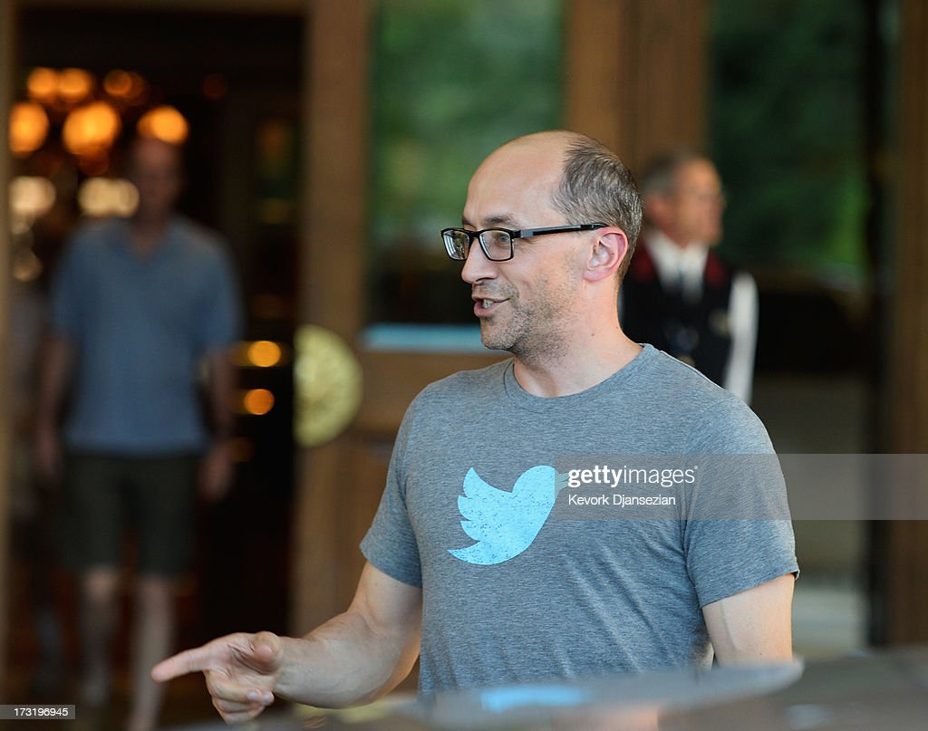 Dick Costolo CEO of Twitter arrives for the annual conference on July 9 2013 in Sun Valley Idaho The resort will host corporate leaders for the 31th...