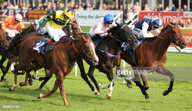 Dick Doughtywylie ridden by William Buick beats Keene Dancer and Cool Macavity to win The Frank Whittle Partnership Classified Stakes during the...