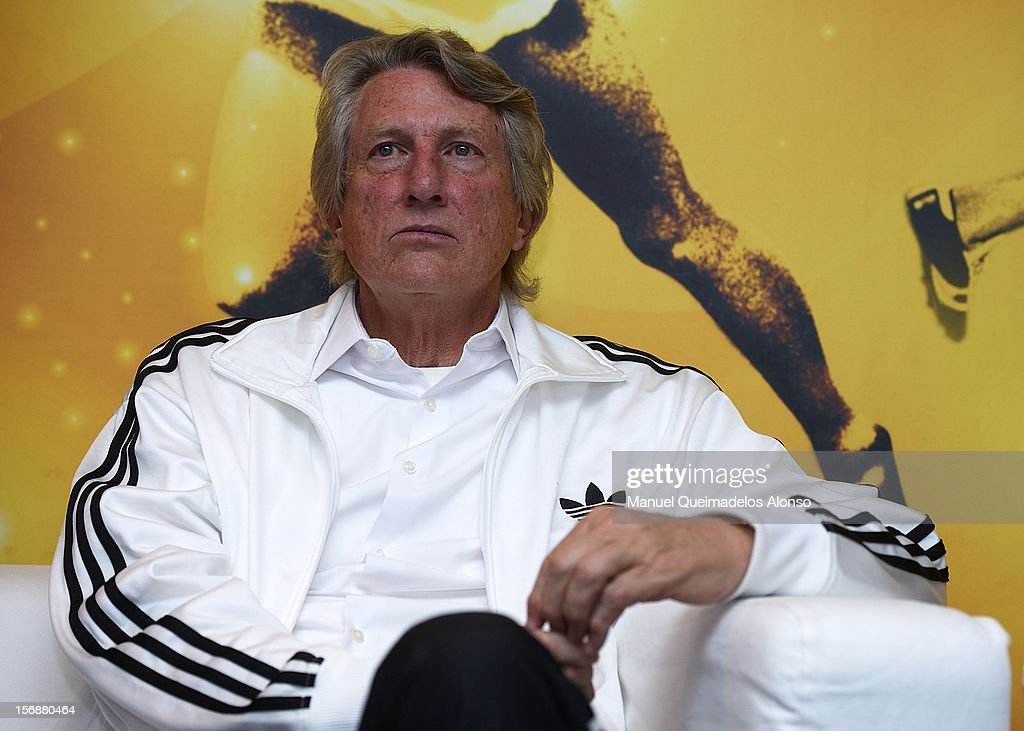 <a gi-track='captionPersonalityLinkClicked' href=/galleries/search?phrase=Dick+Fosbury&family=editorial&specificpeople=1412180 ng-click='$event.stopPropagation()'>Dick Fosbury</a> of the United States in press conference during the preview day of the IAAF athlete of the year award at the IAAF Centenary Gala on November 23, 2012 in Barcelona, Spain.