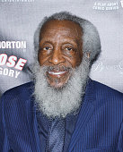 Dick Gregory attend 'Turn Me Loose' opening night at The Westside Theatre on May 19 2016 in New York City