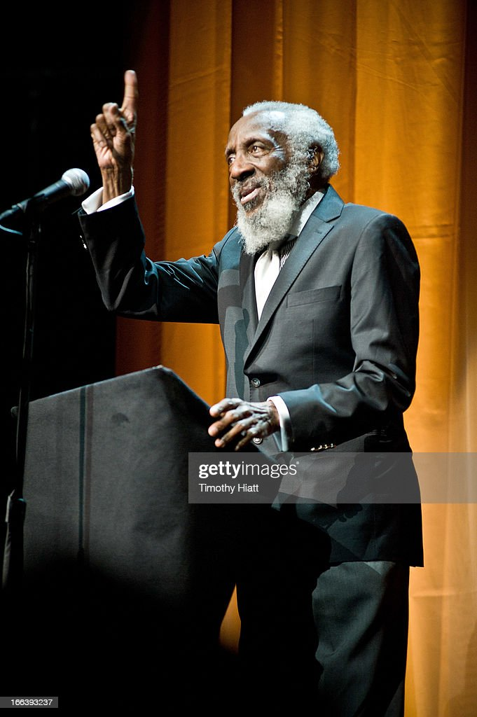<a gi-track='captionPersonalityLinkClicked' href=/galleries/search?phrase=Dick+Gregory+-+Activist&family=editorial&specificpeople=226818 ng-click='$event.stopPropagation()'>Dick Gregory</a> attends the Roger Ebert Memorial Tribute at Chicago Theatre on April 11, 2013 in Chicago, Illinois.