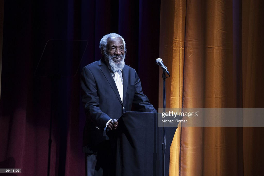 Dick Gregory attends the Roger Ebert Memorial Tribute at Chicago Theatre on April 11, 2013 in Chicago, Illinois.