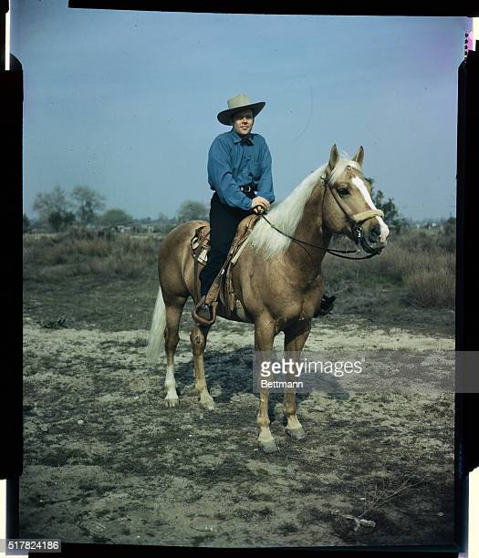 Dick Haymes' horses are all important to the CBS singing star but winning thunderbolt seven year old palomino stallion is his mount