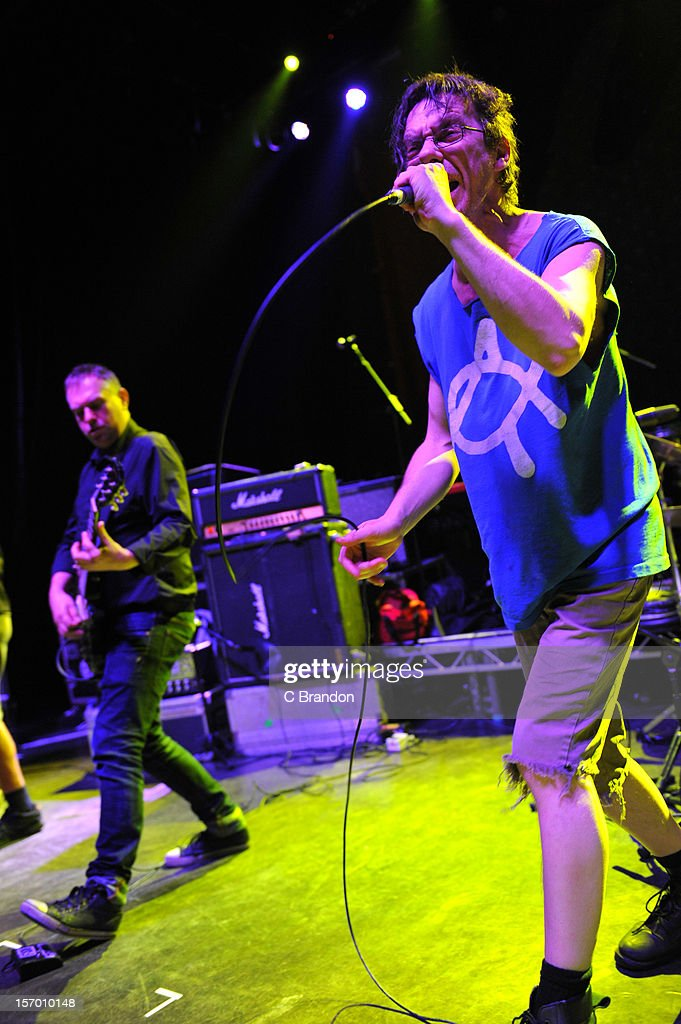 Dick Lucas of Citizen Fish performs on stage at O2 Shepherd's Bush Empire on November 24, 2012 in London, England.