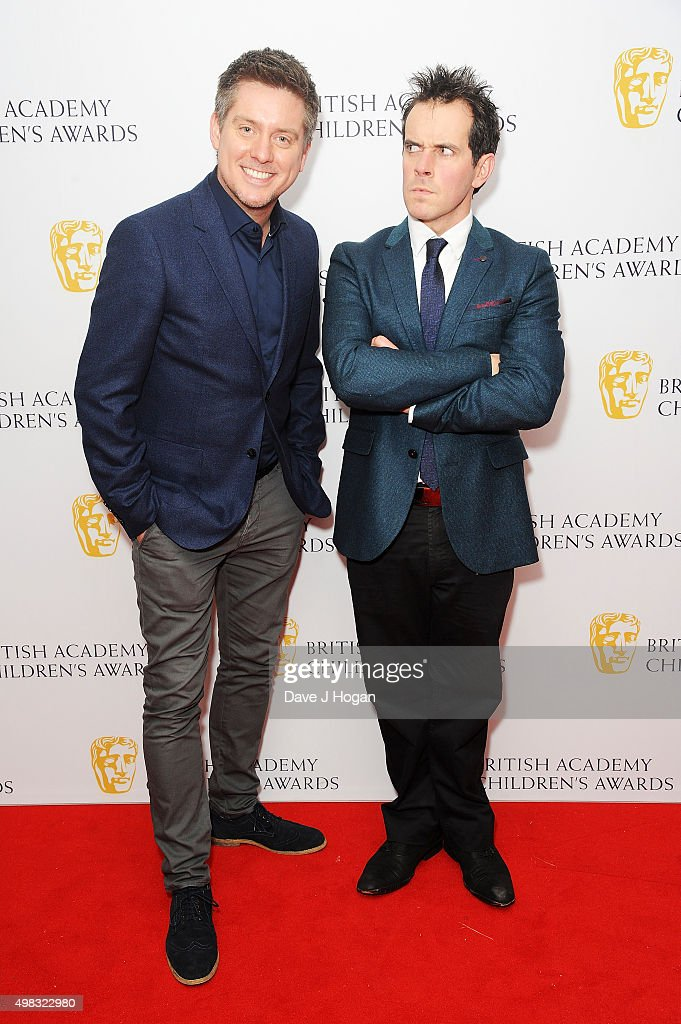 Dick McCourt and Dom Wood attend the British Academy Children's Awards at The Roundhouse on November 22 2015 in London England
