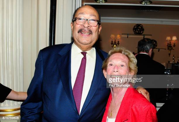 Dick Parsons and Iris Love attend the American Folk Art Museum Annual Gala at JW Marriott Essex House on November 16 2017 in New York City