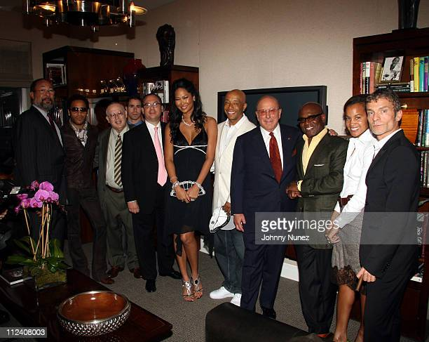 Dick Parsons Lenny Kravitz Arye Mekel Rabbi Marc Schneier Kimora Lee Simmons Russell Simmons Clive Davis Antonio LA Reid Erica Reid and Aviv Nevo