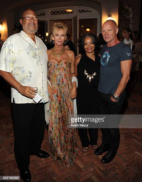 Dick Parsons Trudie Styler President and CEO of Apollo Jonelle Procope and Sting attend Apollo in the Hamptons at The Creeks on August 16 2014 in...