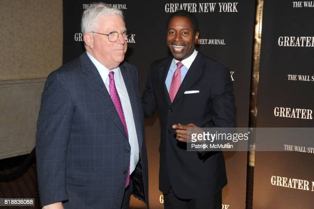 Dick Ravitch and Malcolm Smith attend THE WALL STREET JOURNAL's 'GREATER NEW YORK' Launch Celebration at Gotham Hall on April 26th 2010 in New York...