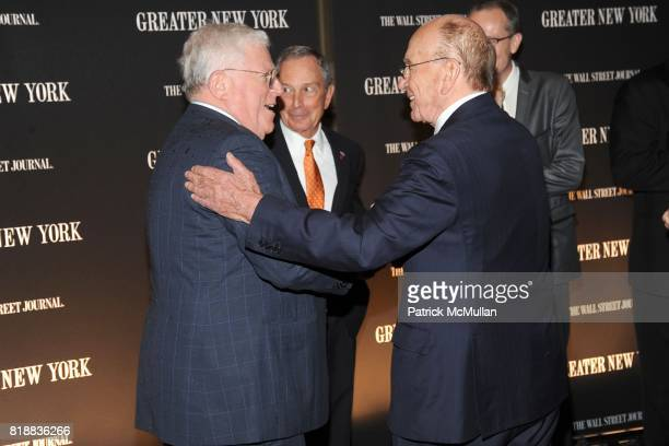 Dick Ravitch Mayor Michael Bloomberg and Rupert Murdoch attend THE WALL STREET JOURNAL's 'GREATER NEW YORK' Launch Celebration at Gotham Hall on...