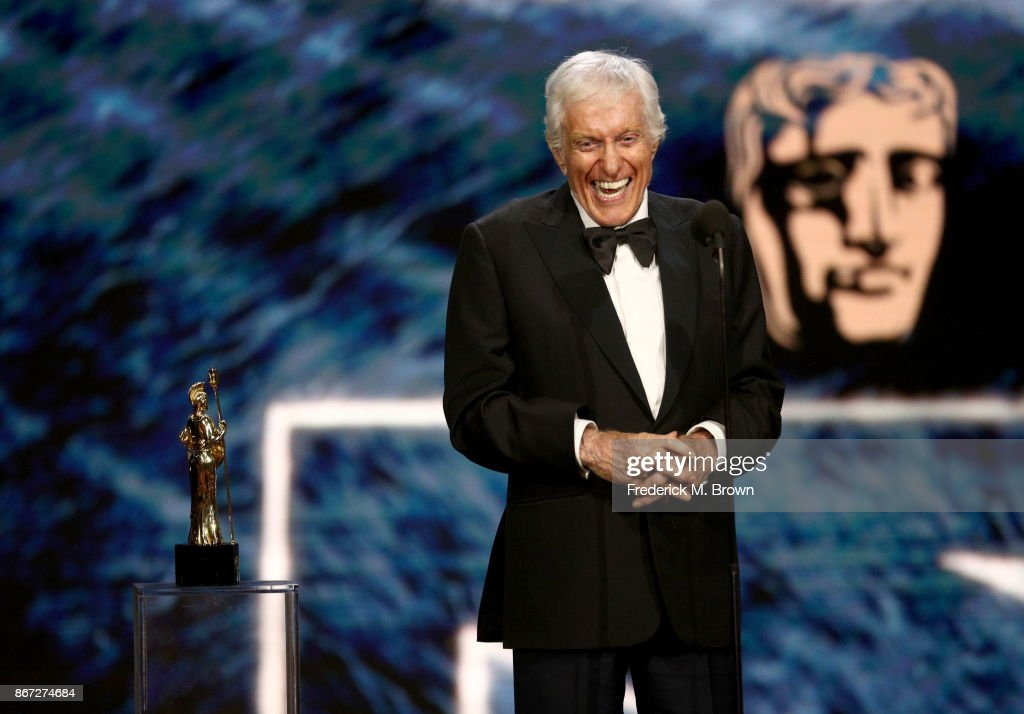 Dick Van Dyke accepts Britannia Award for Excellence in Television presented by Swarovski onstage at the 2017 AMD British Academy Britannia Awards Presented by American Airlines And Jaguar Land Rover at The Beverly Hilton Hotel on October 27, 2017 in Beverly Hills, California.