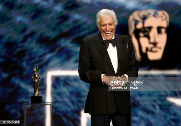 Dick Van Dyke accepts Britannia Award for Excellence in Television presented by Swarovski onstage at the 2017 AMD British Academy Britannia Awards...