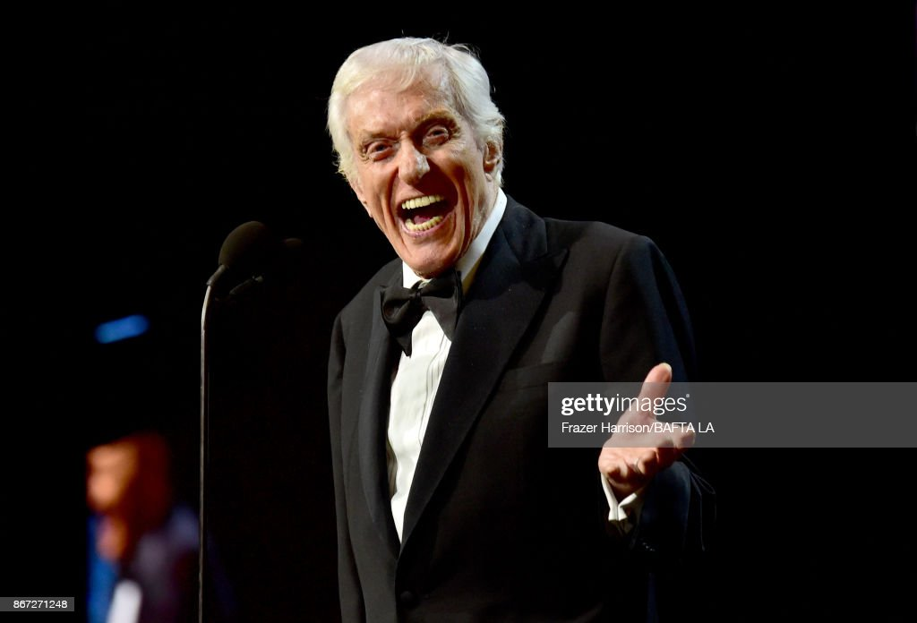 Dick Van Dyke accepts the Britannia Award for Excellence in Television presented by Swarovski onstage at the 2017 AMD British Academy Britannia Awards Presented by American Airlines And Jaguar Land Rover at The Beverly Hilton Hotel on October 27, 2017 in Beverly Hills, California.