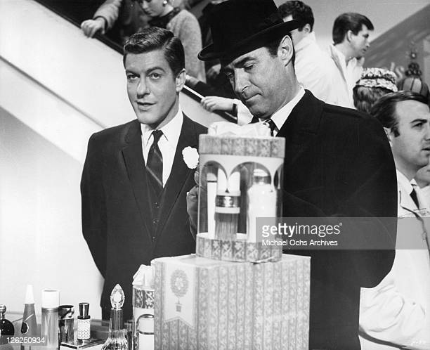 Dick Van Dyke and Albert Carrier are about to pull off a gigantic robbery in a scene from the film 'Fitzwilly' 1967